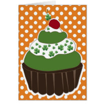 irish cupcake  St Patrick's day card