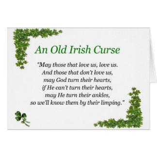 irish curse card