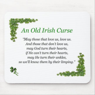 irish curse mouse pad