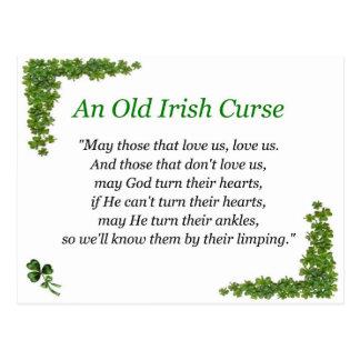 irish curse postcard