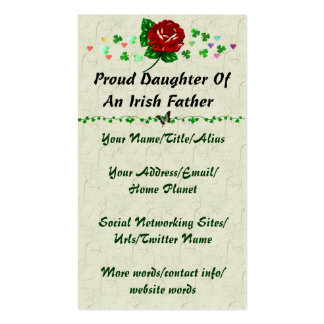 Irish Dad Double-Sided Standard Business Cards (Pack Of 100)