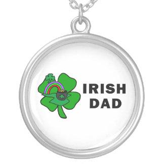 Irish Dad Round Pendant Necklace