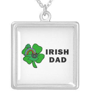 Irish Dad Square Pendant Necklace