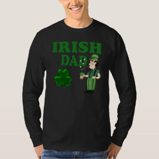 Irish Dad With Green Beer and Pipe T-Shirt