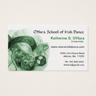 Irish Dance Business Card