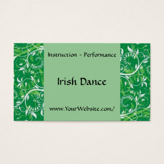 Irish Dance - business card template