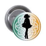 Irish Dance Celtic Flag Button