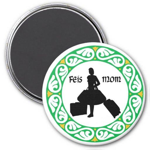 Irish Dance Feis Mom 3 Inch Round Magnet