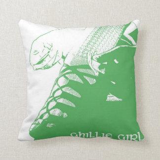 """Irish Dance """"Ghillie Girl"""" Throw Pillow - Green"""