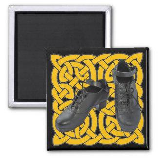 Irish Dance Hard Shoes on Celtic Knot Fridge Magnets