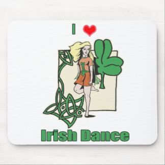 Irish dance heart mouse pad