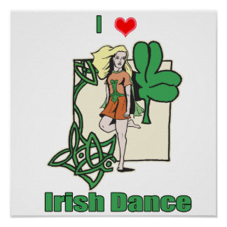 Irish dance heart poster