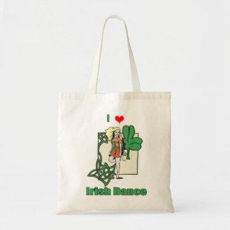 Irish dance heart tote bag