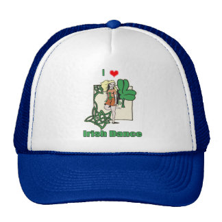 Irish dance heart trucker hat