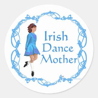 Irish Dance Mother - Blue Classic Round Sticker
