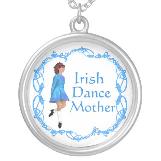 Irish Dance Mother - Blue Silver Plated Necklace