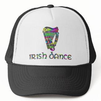 Irish Dance Rainbow Colors Harp of Ireland Hat hat