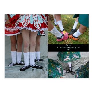 Irish Dance Soft Shoes Postcard