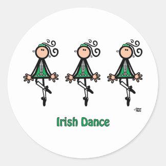 Irish Dance Round Stickers