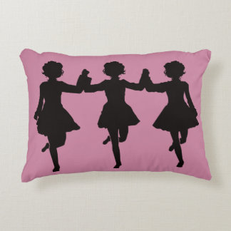 Irish dance team of 3 decorative pillow