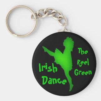 Irish Dance...the reel green Keychain