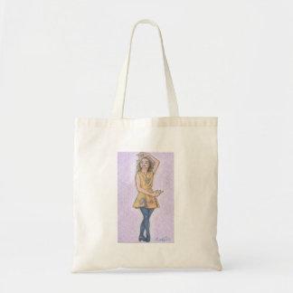 Irish dancer art tote bag