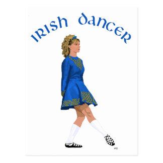 Irish Dancer Blonde in Blue Postcard