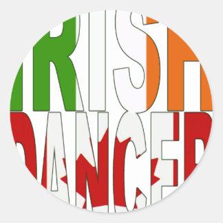 Irish Dancer  Canada [2] Classic Round Sticker