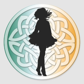 Irish Dancer Celtic Flag Sticker