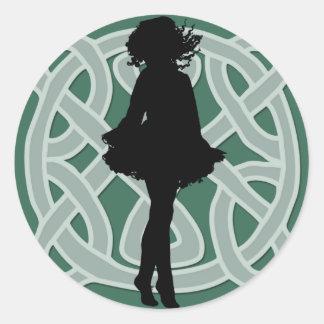 Irish Dancer Celtic Green Sticker