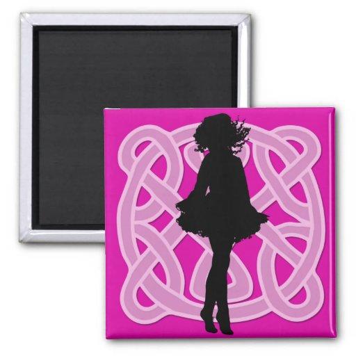 Irish Dancer Celtic Hot Pink Magnet