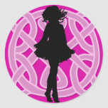 Irish Dancer Celtic Hot Pink Sticker
