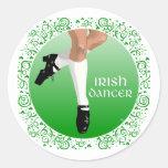 Irish Dancer Hard Shoe Classic Round Sticker