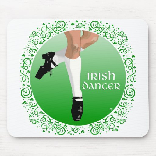 Irish Dancer Hard Shoe Mouse Pad