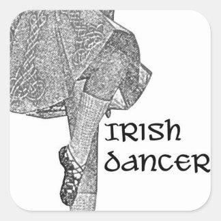 Irish Dancer Kick Skirt Sticker
