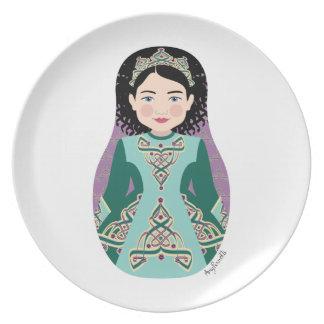Irish Dancer Matryoshka Plate