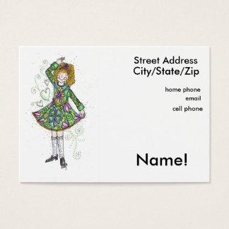 Irish Dancer Personal Calling Card