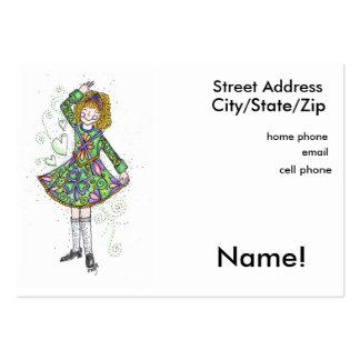 Irish Dancer Personal Calling Card Large Business Card