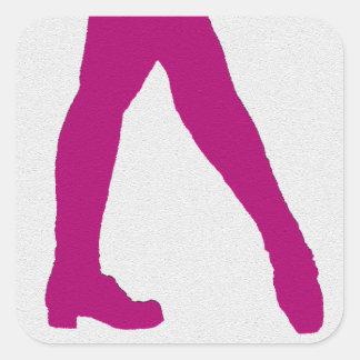 Irish Dancer Square Sticker