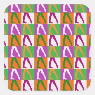 Irish Dancers Square Sticker