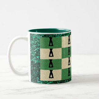 Irish Dancers Two-Tone Coffee Mug