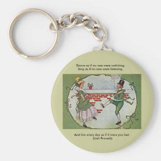 irish dancers vintage key chain