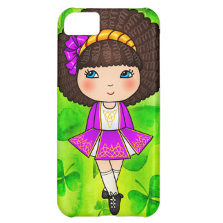 Irish dancing girl in violet dress case for iPhone 5C
