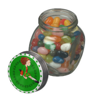 Irish Dancing Glass Candy Jars