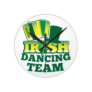Irish Dancing TEAM Round Clock