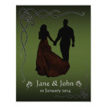 Irish Dark Green wedding Card