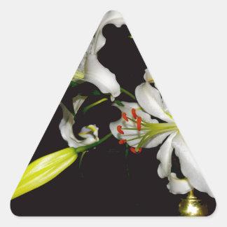 Irish Design- Brass and Flower Collection Triangle Sticker