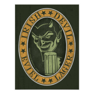 Irish Devil Eviel Lager Poster