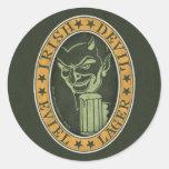 Irish Devil Eviel Lager Round Sticker