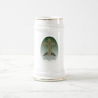 Irish Diaspora Christmas Ceramic Beer Stein